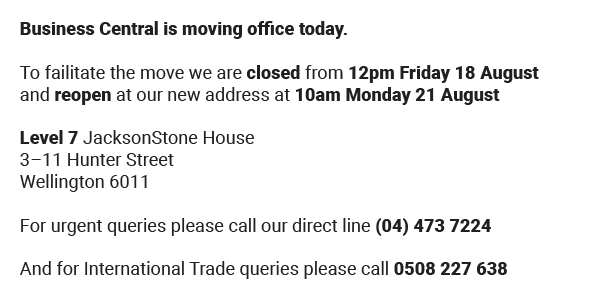 Office move notice